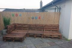 Palettensofa Outdoor-Sitzecke